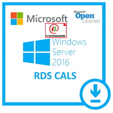 Windows Server 2016 Standard Remote Desktop Services 50 Device Cal's |RDS LIC|+