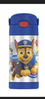 THERMOS PAW PATROL 12oz FUNTAINER WATER BOTTLE WITH BAIL HANDLE  BLUE NEW