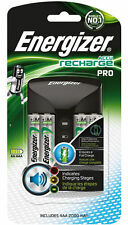 Energizer Pro Charger inc 4x 2000mAh AA Rechargeable Batteries