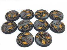 x10 Pre-painted 32mm Necromunda bases (Hazard) - Games Workshop - Warhammer 40k