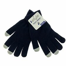 New 2 Pack Touch Screen Texting Gloves Stretch Winter Knit Black Men smartphone