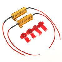 2X 50W 6ohm Load Resistors LED Fix Flash Rate Turn Signals Indicator Controllers