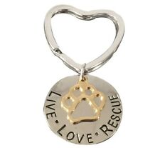 Live Love Rescue Keychain, Pet Rescue Jewelry - Gift for Dog or Cat Owner