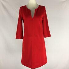ZARA Women's Size XS EUR Red 3/4 Sleeve Stretch Jersey Dress Above Knee