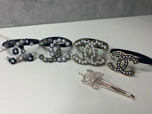 Chanel pearl hair tie set of 5 hair clip hair bands