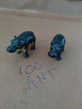 2 AAA Plastic Rubber Hippopotamus hippo