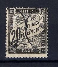 FRANCE - Taxe Type Duval 1881-92 - 20c noir n° Yvert 17 - cote 150 € !