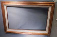 Vintage Modern Gilt Metal Leaf Linen 1965 Picture Frame 24x36 Mid-Century KIT