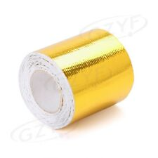 """2""""x16' Roll Self Adhesive Reflective High Temperature Heat Shield Wrap Tape Gold"""