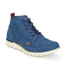 MENS KICKERS KICK HI SUMA SUEDE CHUKKA BOOTS - UK SIZE 6.5 - BLUE - BRAND NEW.