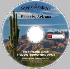 AZ - Phoenix & Area 1961 Phone Book on CD Images + Text Searchable