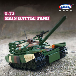 Xingbao Building Blocks T-72 Main Battle Tank Model  Military Science Education