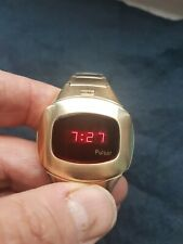 VINTAGE PULSAR LED WATCH AND BOX
