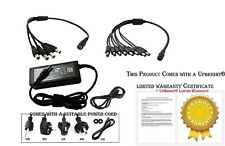 12V DC 5A Power Supply Adapter with 9 Port Splitter Security DVR for Night Owl