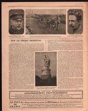 WWI Amiral Gauchet Aviateur de Beauchamp/ Statue of Lord Byron 1916 ILLUSTRATION