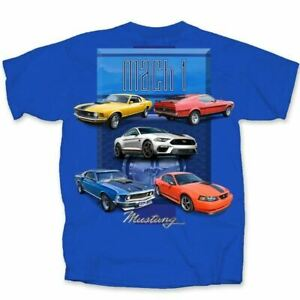 Mach 1 Mustang Four Generations Mustang T-Shirt * Ships Worldwide & FREE TO USA!