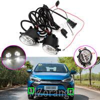 LED Fog Light Lamp Wiring For Toyota Kluger Prius C V Rav4 Tarago Tundra Yaris 2