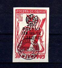 """POLOGNE Oflag Camp de Murnau Bloc """"D"""" Fischer timbre n° 8 oblitéré"""