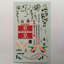 DECALS KIT 1/18 FIGURA + HELMET HAMILTON 2011 MCLAREN F1 + SINGAPORE GP FIGURINO