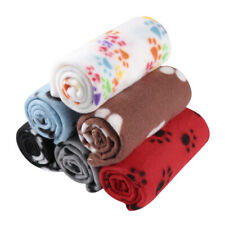 6 Pcs Animal Paw Printed Bed Blankets Sleep Mats Plush Blankets for Puppy Kitten