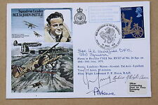 SQN LDR JOHN PATTLE COVER SIGNED BATTLE OF BRITAIN PILOT SQN LDR HUGH WAKEFIELD