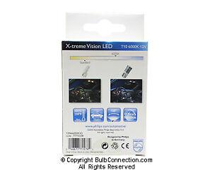NEW Philips BC10291 Philips T10 LED 6000K 2-Pack 129666000KX2 12V Bulb