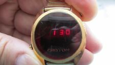 U.S.A. made Antique Men's CROTON Electronic Wrist Watch with G.F. stretch band