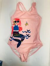 hanna andersson mermaid Girls Swimsuit, Sz 12