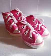 Smoochie Pooch Dog Puppy Pink Polka Dot Sneakers Shoes SMALL