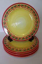 "SET of 4 - Oneida LA FIESTA  Dinner Plates - 11"""