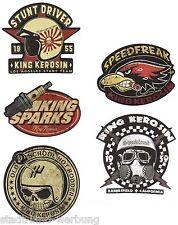 King Kérosène Kit Speedfreak Autocollant Sticker Rockabilly Hot Rod Bobber