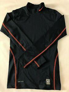 NIKE Boys Pro-Combat Compression Base Layer Long Sleeve Dri-Fit Football Sports