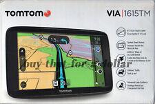 """*NEW* TomTom VIA 1615TM 6"""" Portable GPS Navigator-Car-Free Lifetime Maps-Traffic"""