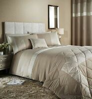 Catherine Lansfield Embossed Rose Quilt Cover Gold Cream Floral Bedding FREE P&P