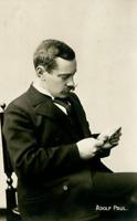 Adolf Paul Vintage carte photo, Adolf Paul (1863-1943) était un écrivain suédois