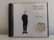 CD ALBUM ANNE CLARK The law is an anagram of wealth SPV 084 92702