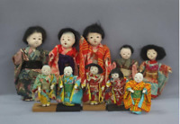 antique Japanese ichimatsu doll Japanese doll Small Ichimatsu Doll 10 Piece Set