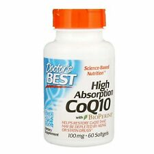 Doctor s Best High Absorption CoQ10 with BioPerine 100 mg 60 Softgels