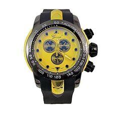 Gold Black Mens Watch Geneva Metal Oversized Designer Fashion Sport Wrist