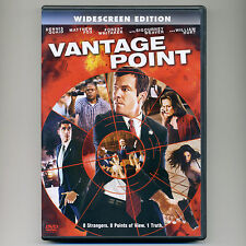 Vantage Point 2008 PG-13 kidnap assassin terrorism action movie, new DVD Quaid