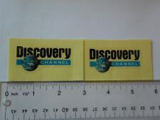 """2.5"""" x 2""""  DISCOVERY CHANNEL  Logo Vinyl  clear background 2 decal stickers"""