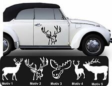 2x Elk Deer Sticker Moose Sticker Car Colour + Motif Selection 40cm