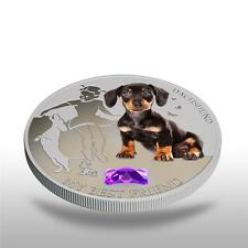 Fiji 2013 My Best Friend II Dachshunds Dogs & Cats 1 Oz Proof Silver Coin