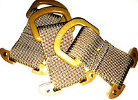 3 pack TAN Tactical T-Ring Webbing Adaptor for molle/pals/acu/emt/military