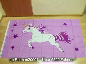 Fahnen Flagge Einhorn Rosa - 90 x 150 cm