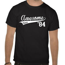 Awesome since Tshirt - Customisable Name - mothers, fathers day - birthday Gift