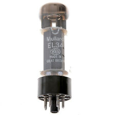Mullard Blackburn Xf4  EL34 balck base Valve Tube tested Excellent  See images