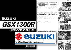 Suzuki GSX1300R HAYABUSA Service Manual Workshop 1999 to 2007 Shop GSX1300