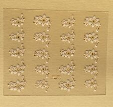 3D White Flower Nail Art Stickers