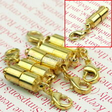 5 X Gold Tone Magnetic Bracelet Necklace Clasps Jewellery Findings Craft HOT